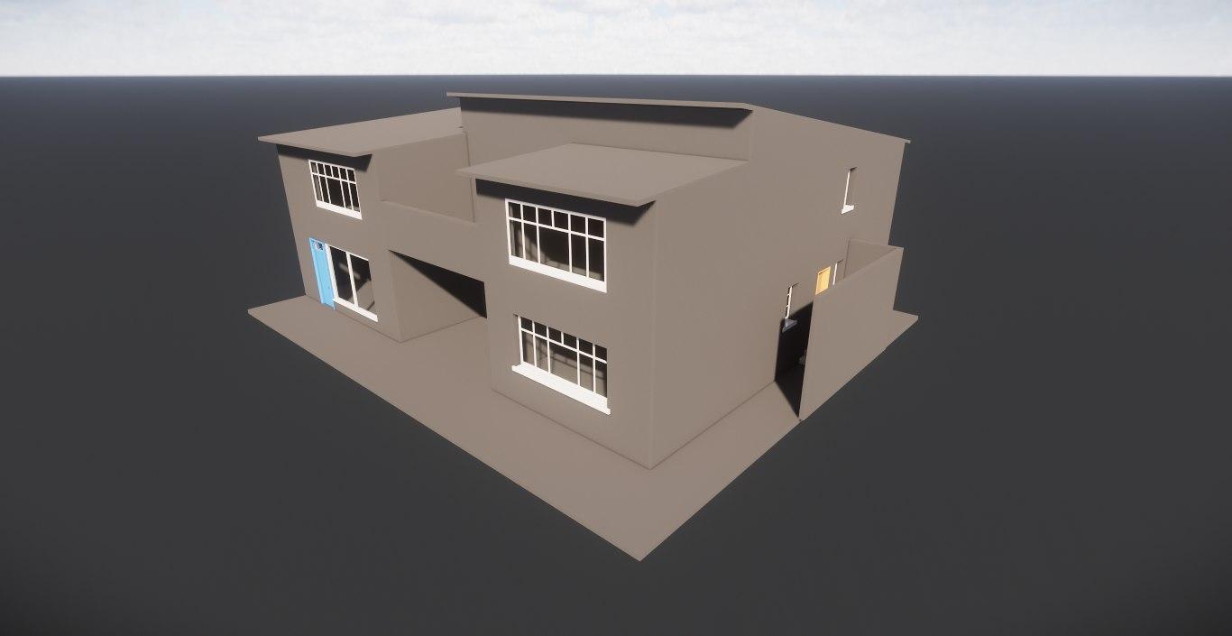 3D revit residential building villa