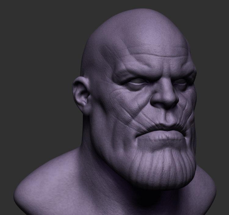thanos head zbrush 3D model
