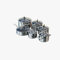 photorealistic set pans 3D model