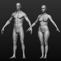 Base mesh male_female body