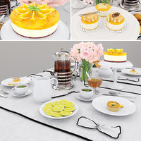 3D model table orange cake