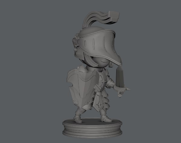 3D armor character model