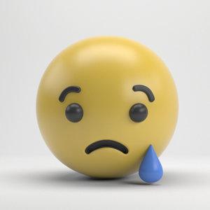 3D facebook sad
