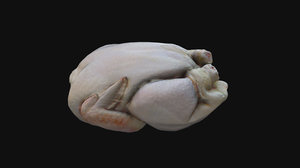 3D poulet cru cuisin model