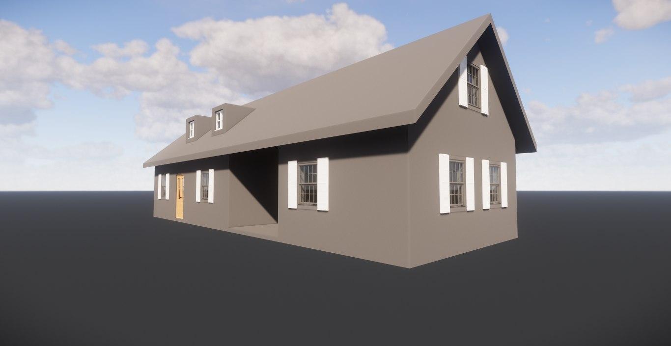 3D revit villa model