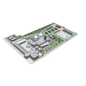 museum mausoleum 3D model