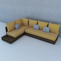 moroccan lounge 3D model