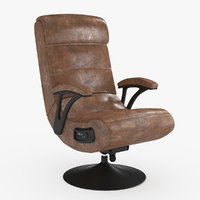 pedestal gaming chair rocker 3D