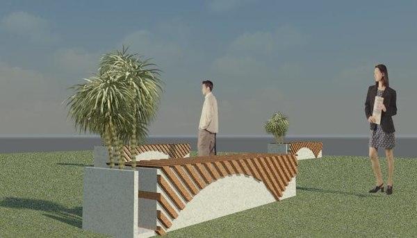 3D model best outdoor seating