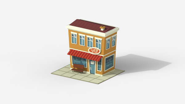cartoon shop 3D