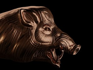 hog 3D model