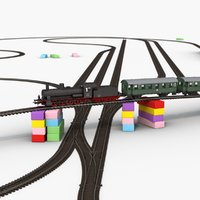3D piko toy railway constructor