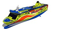 superstar ferry 3D model