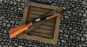 3D pump action shotgun model