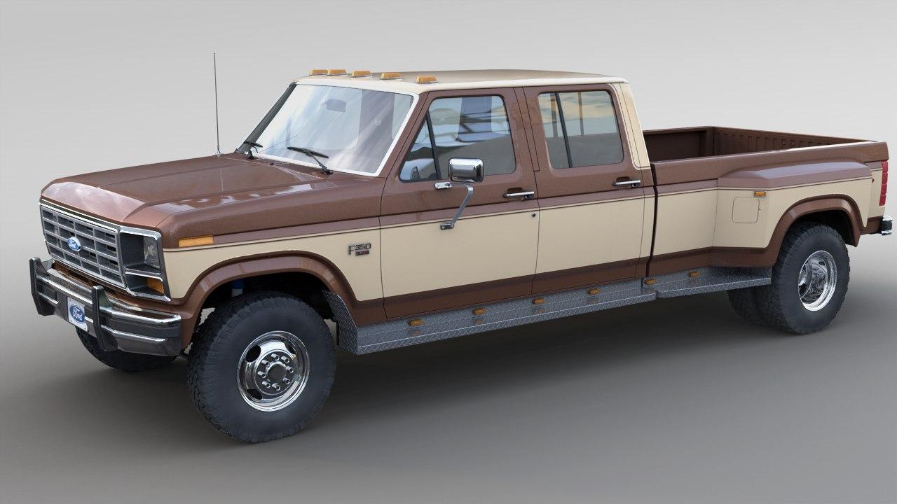 1986 F 350 Crewcab Dually 3d Model Turbosquid 1291755 1980 Ford Crew Cab