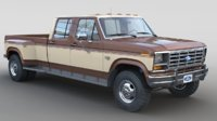 1986 f-350 crewcab dually 3D model