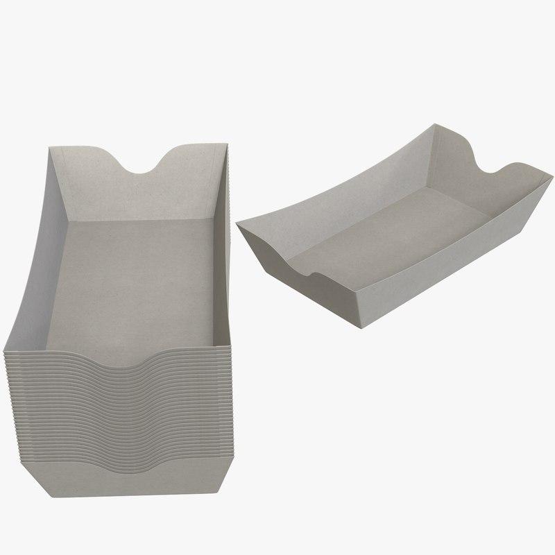 3D cardboard tray v3