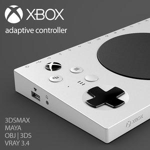 3D microsoft xbox adaptive controller model