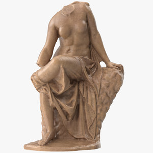 seated nymph statue model