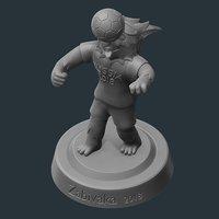 print sculpture 3D model