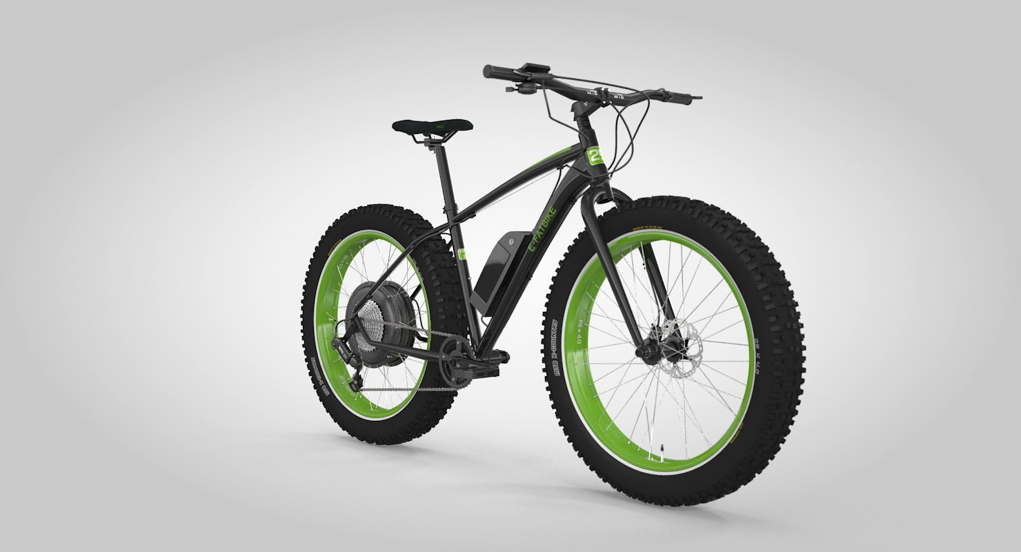 3D electric fatbike