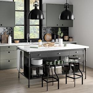 3D kitchen 2 model