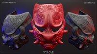 samurai mask model