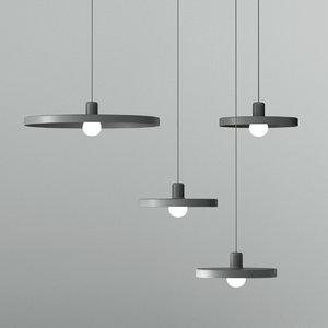 3D disk ceiling light model
