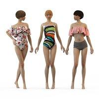 3D swimwear 2018 bikini girls