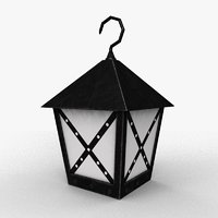 medieval lantern 3D