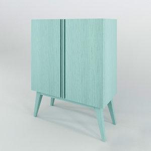 3D model boss cabinet bo