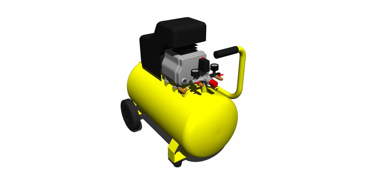 3D model compressor 50l