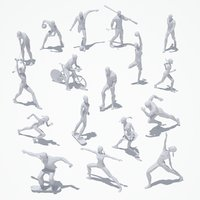 Low Poly Sport Pose PACK(1)
