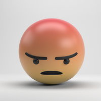 facebook angry 3D model