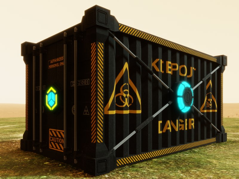 shipping container hi-tech 3D
