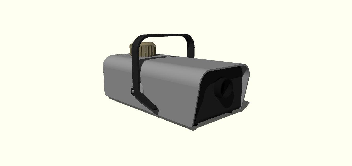 3D maquina humo