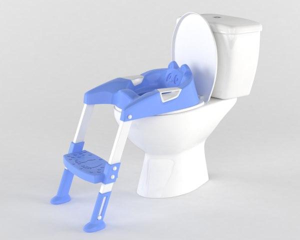 3D model realistic toilet