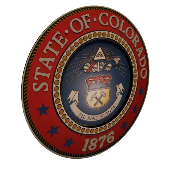 colorado state seal 3D model
