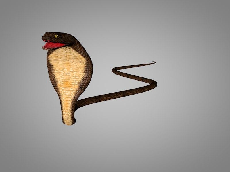 3D cobra snake model