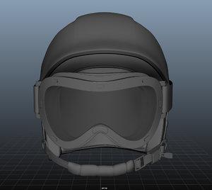 3D ski helmet googles