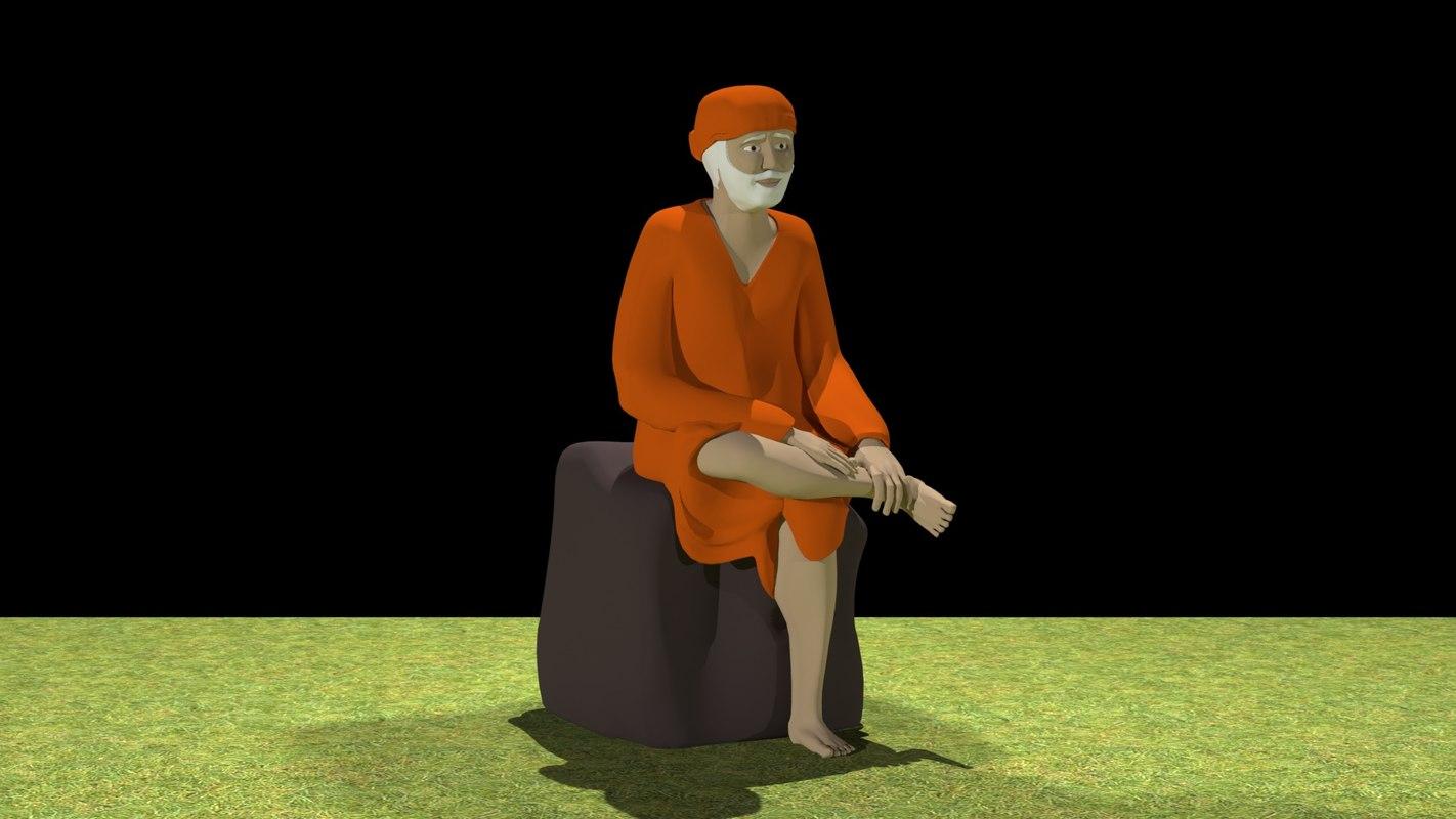 3D model indian sai baba