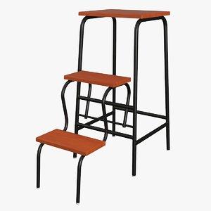 realistic step ladder model