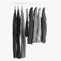 realistic clothes hanger 3D model