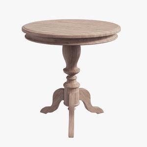 darwin pedestal table wood 3D