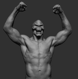 3D skeletor upperbody stl
