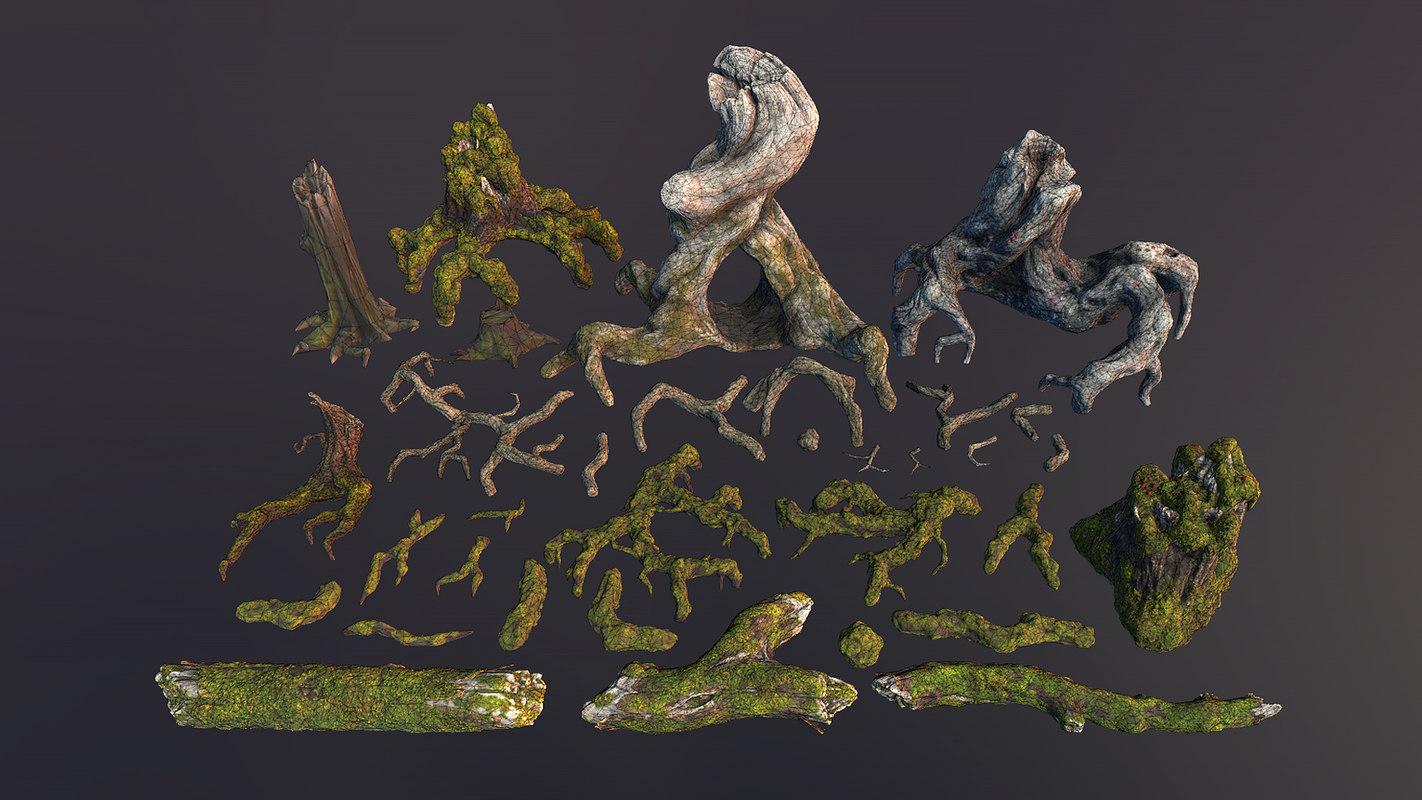 roots snags 3D model