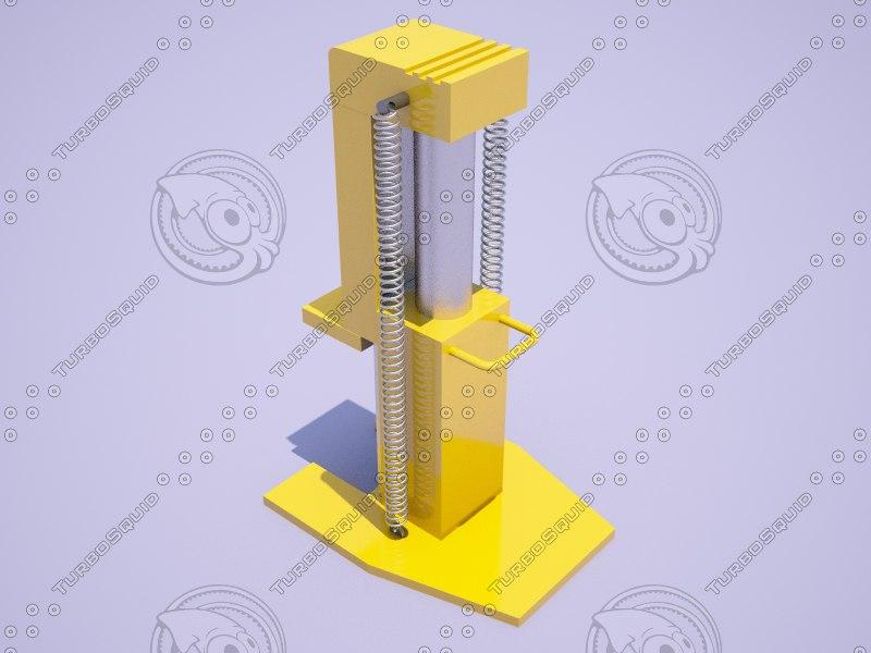 independent jack pick-up 3D model