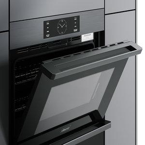 hyper modeled oven double 3D