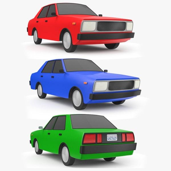 3D cartoon car 2 model
