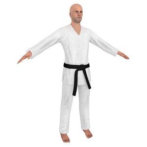 karate 1 3D model